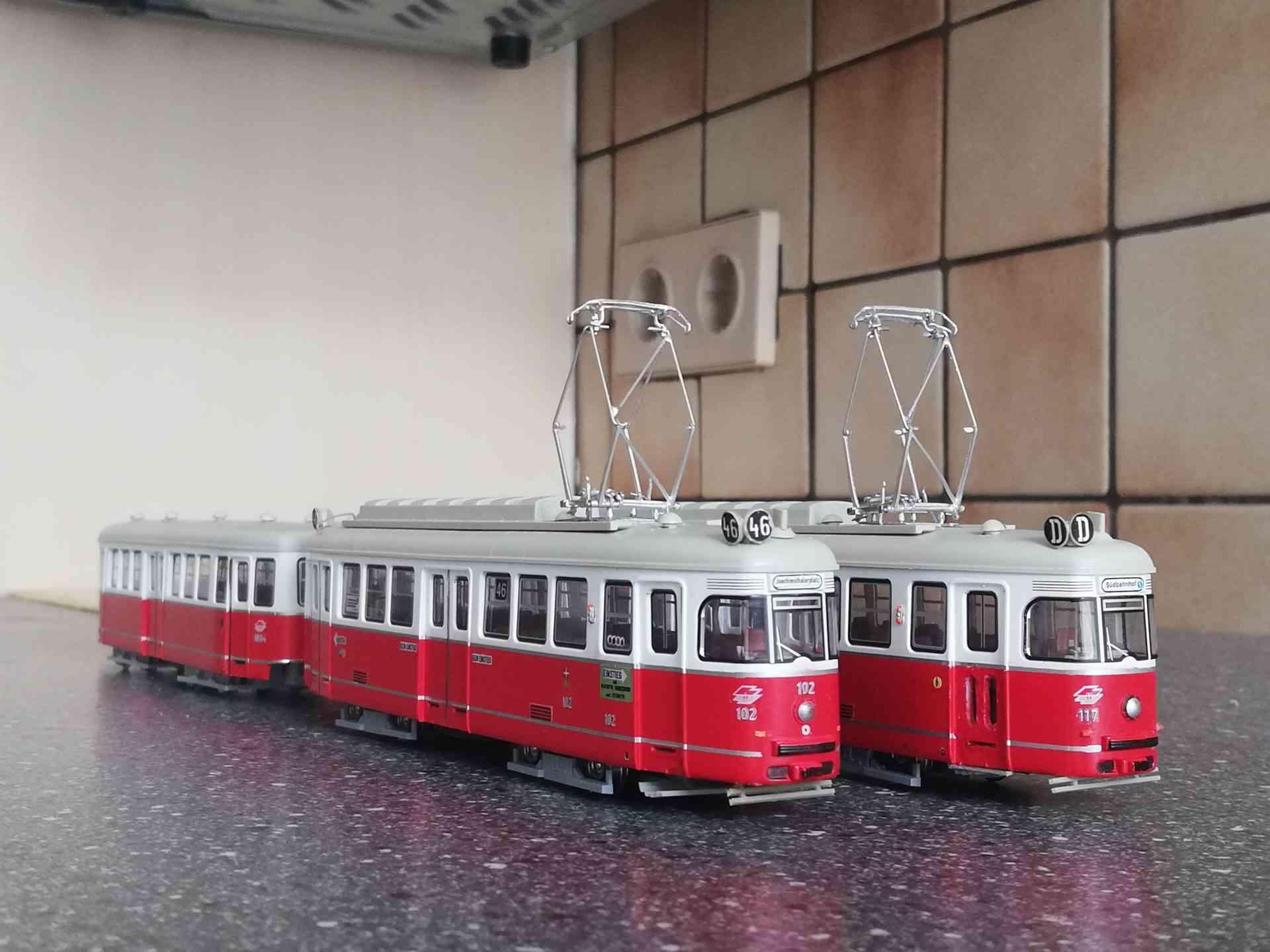 C1+c1 Straßenbahn Modelle verfeinert mit diversen Zurüstteilen der Firma Ferro Train - Halling und Sedlacek