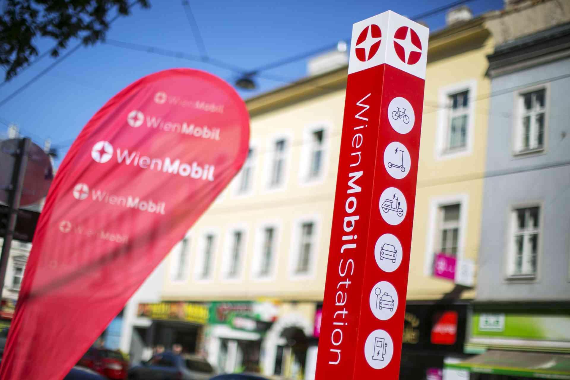 WienMobil-Stationen verknüpfen den öffentlichen Verkehr mit Sharing-Angeboten.